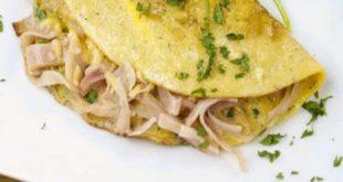 omelette de jamón